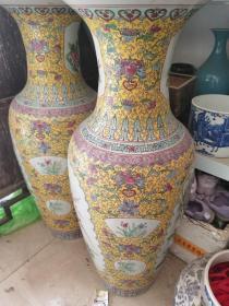 古玩老瓷器清代粉彩瓷瓶