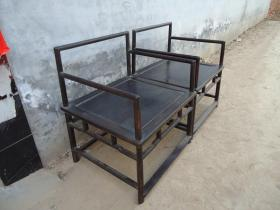 传世的清代紫檀禅椅
