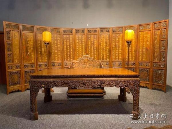 古董木艺老家具清代黄花梨家具一套