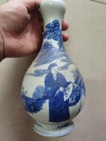 清代青花瓷瓶古瓷器