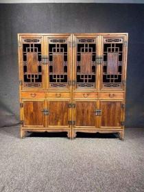 古董古玩木器黄花梨老家具黄花梨书柜