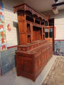 明清古旧家具黄花梨大号罗汉床老木器