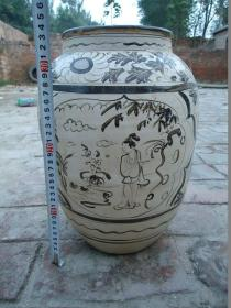 宋代磁州窑瓷罐