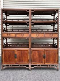 古董古玩黄花梨老家具明清家具木器木艺海南黄花梨书柜