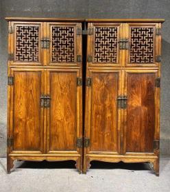 古董古玩黄花梨老家具明清家具木器木艺海南黄花梨橱柜