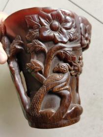 古玩杂项雕刻杯子4个