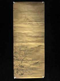 日本回流老字画清代南园山水人物绘3852中古真迹书画