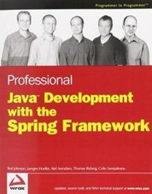Professional Java Development With The Spring Framework-使用spring框架进行专业java开发
