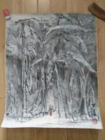 """罗潘七八十年代国画""""西双版纳风情"""",品好包快递发货。"""