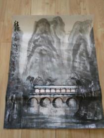 """罗潘国画""""桂林之春"""",品好包快递发货。"""
