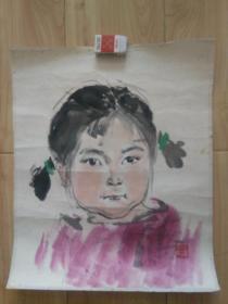 湖北美院教授罗潘七十年代画稿三件,尺寸大小不一,人物的稍小点,老托裱,品好包老包真包快递发货。
