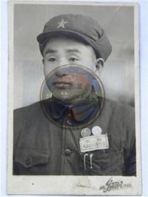 50年代穿新中国人民经济警察服留念(50年代)