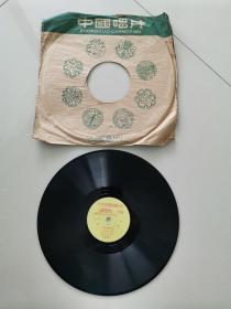 78转黑胶唱片:管弦乐-旱天雷、小提琴齐奏-四季调(1张2面)