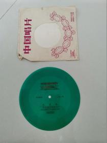 小薄膜唱片:合唱齐唱-东方红、大海航行靠舵手(1张2面)