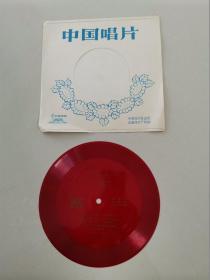 小薄膜唱片:刘德海琵琶独奏-大浪淘沙、出水莲、旱天雷(1张2面)