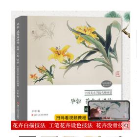 毕彰花鸟画进阶(白描工笔没骨)/中国美术学院名师画谱