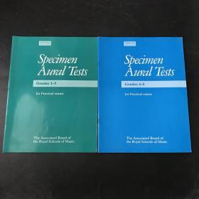 Specimen Aural Tests Grades1—5 6—8曲谱 乐谱