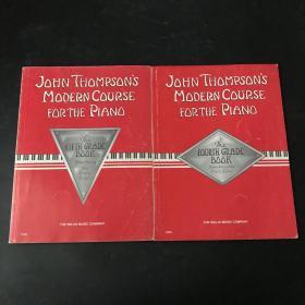 约翰·汤普森 现代钢琴教程 John Thompsons Modern Course For The Piano 美国原版 五线谱 两本合售