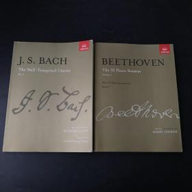 abrsm beethoven the 35 piano sonatas  js bach the well tempered clavier 两本合售