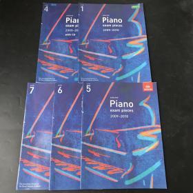 Selected Piano Exam Pieces 2009-2010 1.4.5.6.7五本合售