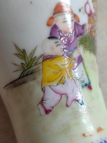 清雍正粉彩瓶