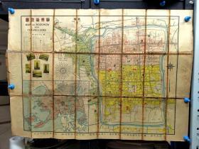 民国二十年苏州地图,对开,背面中英文介绍,【卷10】