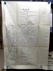 民国宁波镇海县卤管像和东管乡地图各一张,对开大,2张一起出【图1】