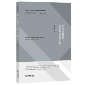 正版 刑法前置化风险与控制研究 霍俊 法律 2021新书 刑法前置化风险与控制 分析刑事立法