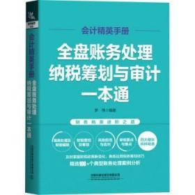 会计精英手册 全盘账务处理、纳税筹划与审计一本通 罗伟 编 书籍