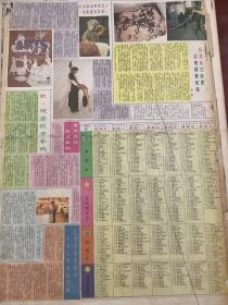十五届香港艺术节,90年代报纸一张4开