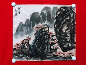 书画14734,【石壶】山水画,尺寸约为45*39厘米