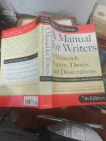 A Manual for Writers of Research Papers Theses and Disserta