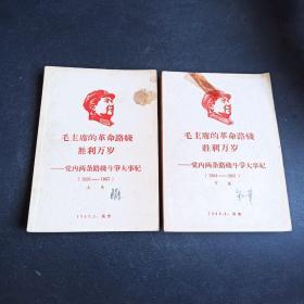 毛主席的革命路线胜利万岁—党内两条路线斗争大事记(上下)