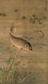 明 缪辅 鱼藻图