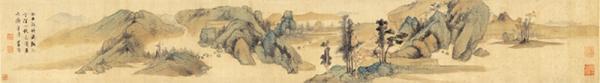 明 蓝瑛 溪山秋色图-画