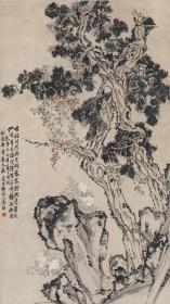 清 李鱓 古柏凌霄图