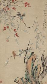 华喦 红花幽鸟