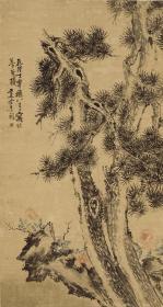 清 李鱓 松石牡丹图