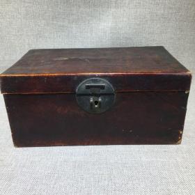 老木头首饰箱子一件