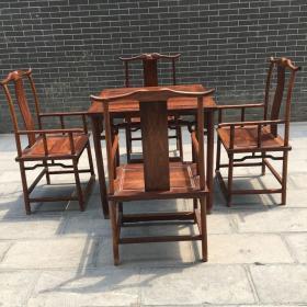 传世纯黄花梨一套桌椅