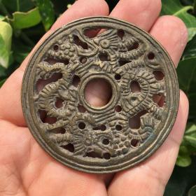 清代镂空全品老铜钱一个