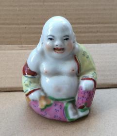 七八十年代 陶瓷 弥勒佛 景德镇窑,彩瓷,釉上彩