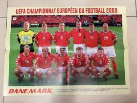 足球海报 2000欧洲杯 丹麦/舒梅切尔