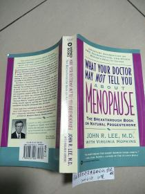 What Your Doctor May Not Tell You About Menopause【你的医生也许没告诉你的:绝经期,)没勾画