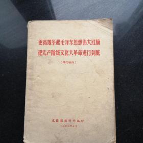 更高地举起毛泽东思想伟大旗帜把无产阶级文化大革命进行到底