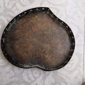 纯铜桃形茶盘