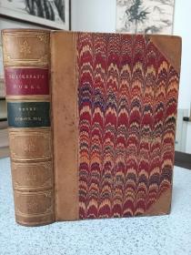 1869年,英文原版,真皮精装版本,古董级善本,品相一流,手感很棒,萨克雷作品,the history of Henry Esmond. ESQ