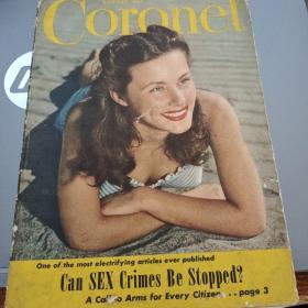 1946年美国杂志《Coronet》八月一期(皇冠 自己翻译的,可能不准,仅供参考) 详情见商品品相描述,售出后不退不换