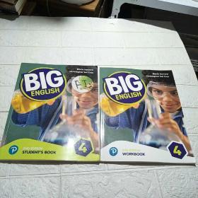 培生新版 BIG ENGLISH 4:2ND EDITION (STUDENTS BOOK+ WORKBOOK) 2册合售(平装 16开 详情看图)