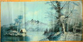 丁一林,早期油画风景,经丁一林学生鉴定为早期真迹,保真